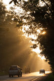 Morning on the way. Many cars go on the way in the morning for working everyday Royalty Free Stock Photo
