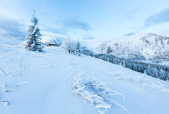 Morning winter mountain landscape Royalty Free Stock Photos