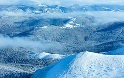 Morning winter mountain landscape Royalty Free Stock Photos