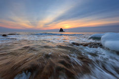Morning winter sea. East Sea. Royalty Free Stock Images