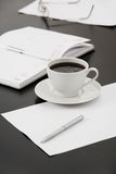 Morning workplace Royalty Free Stock Image