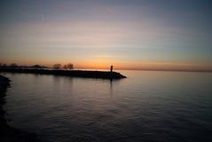 Morning at yacht marina Stock Images