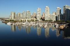 Morning Yaletown Marina, Vancouver Royalty Free Stock Photos