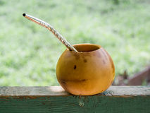 Morning yerba mate drink Stock Photo