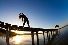 Morning yoga Stock Photography