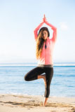 Morning yoga Stock Images