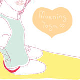 Morning yoga Royalty Free Stock Photography