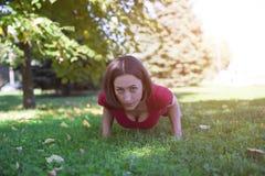 Morning yoga class. Royalty Free Stock Photography