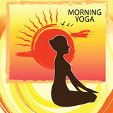 Morning yoga - poster Royalty Free Stock Photos