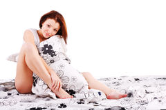 Morning young beautiful girl Royalty Free Stock Images