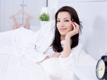 Morning of young woman Royalty Free Stock Images