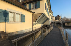 Morning in Zurich. Switzerland in early spring Stock Photo