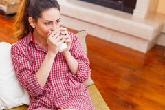 The mornings never start without a coffee Royalty Free Stock Photo