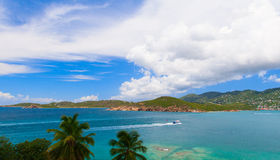 Morningstar bay in Saint Thomas, US Virgin island Stock Image