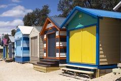 Mornington Peninisula Bathing Boxes stock photos