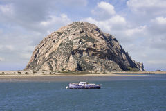 Moro Bay and Rock in California Royalty Free Stock Image