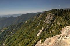 Moro Rock, parque nacional de sequoia fotografia de stock