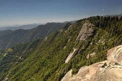 Moro Rock sequoianationalpark Arkivbild