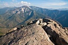Moro Rock Vista. View from Moro Rock in Sequoia National Park, California Stock Photos