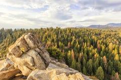 Moro Rocks Vista, EUA Imagem de Stock