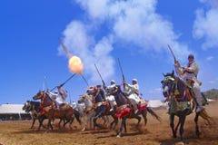 Morocan Fantasia Στοκ εικόνες με δικαίωμα ελεύθερης χρήσης