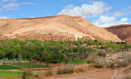 moroccan ландшафта пустыни Стоковые Изображения RF
