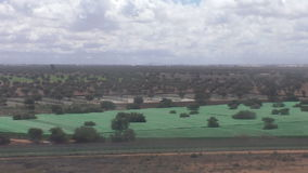 Moroccan agricultural landscape from aircraft stock video footage