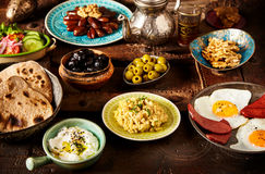 Moroccan Algerian breakfast Stock Photography