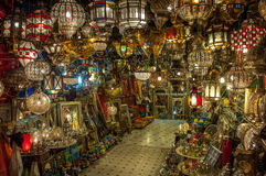 Moroccan antique lamp Royalty Free Stock Photography
