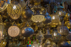 Moroccan antique lamp Royalty Free Stock Photo