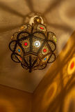Moroccan antique lamp Stock Photos