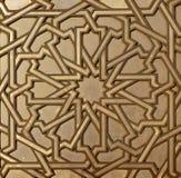 Moroccan Metal Arabesque. Moroccan arabesque design on the gates of the Mosque Hassan II in Casablanca Morocco Stock Image