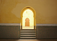 Moroccan arch entrance Stock Images