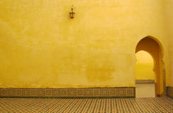 Moroccan arch entrance Stock Photo