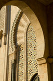 Moroccan architecture. View of Moroccan architecture door arch, casablanca mosque Royalty Free Stock Photo