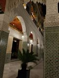 Moroccan Architecture - art of decor. Morocco has been influenced by many cultures throughout the years. For centuries, the country was formed by the mixture of royalty free stock images