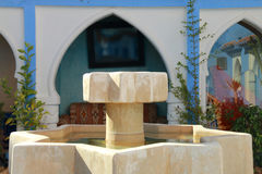 Moroccan architecture fountain. Source with details of traditional Arabic architecture Stock Photos