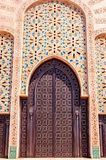 Moroccan architecture traditional design. Hassan II Mosque in Ca. Sablanca, Morocco Royalty Free Stock Photos