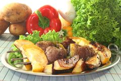 Moroccan barbecue skewers Stock Photos