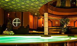 Moroccan bathhouse. A beautiful Moroccan bathhouse at night Royalty Free Stock Images