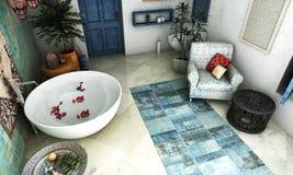 Moroccan bathroom stock photos