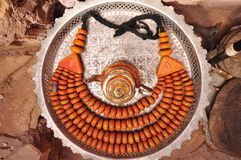 Moroccan beads necklase stock photo