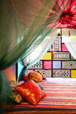 Moroccan bed style Stock Photography