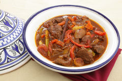 Moroccan beef tagine Stock Images