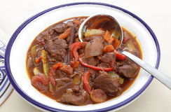 Moroccan beef tagine with spoon Stock Image