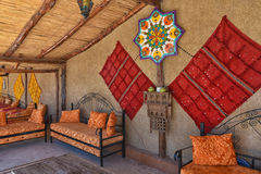 Moroccan berber house interior stock image