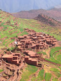 Moroccan berber village. In the mountains with terrace culture - Setti Fadma Atlas - Ourika valley - Morocco Stock Images