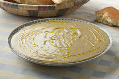 Moroccan bessara with olive oil and cumin Royalty Free Stock Image