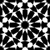 Moroccan black pattern Royalty Free Stock Images
