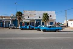 Moroccan blue taxi Royalty Free Stock Photos